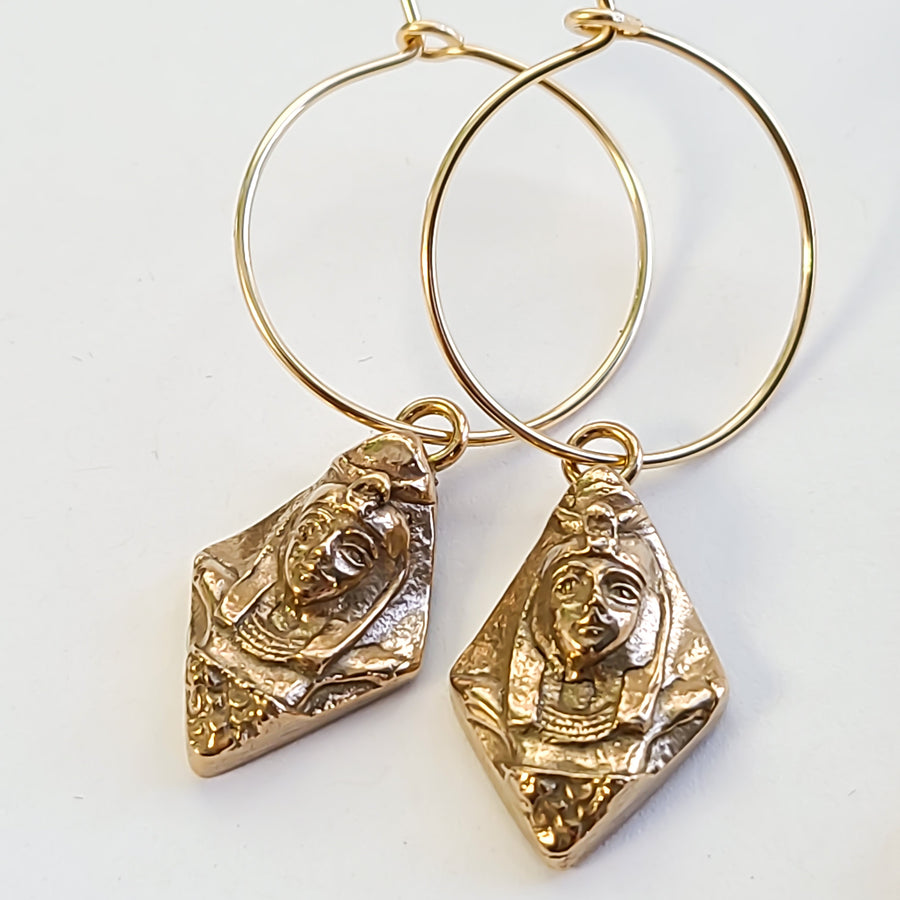 The Isis Earrings - Salt + Sage