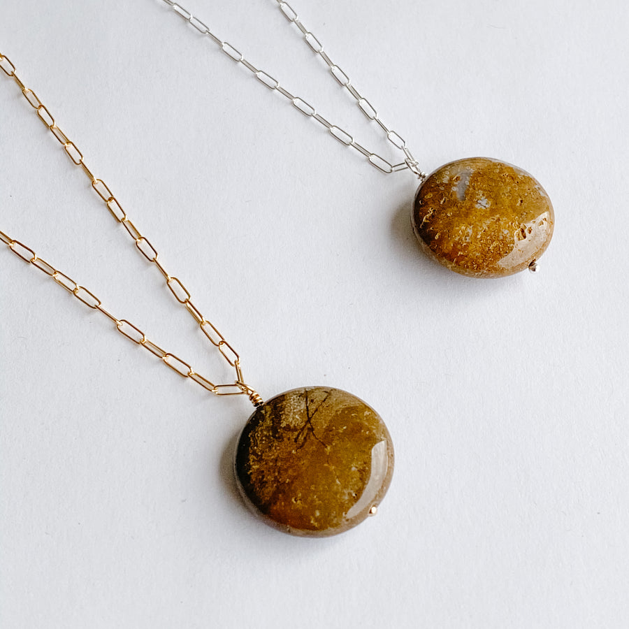 Ocean Jasper Talisman Necklace - Salt + Sage