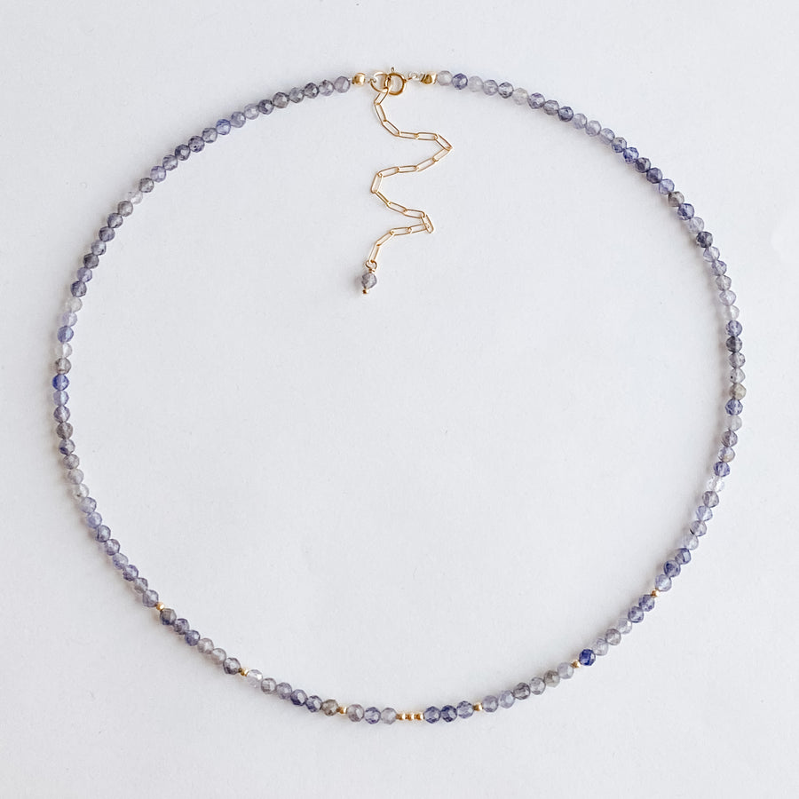 Iolite Layering Necklace - Salt + Sage