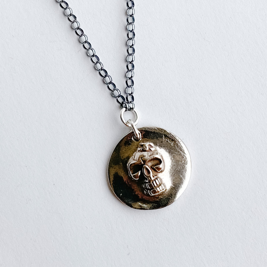 Skull Mens Talisman Necklace - Salt + Sage