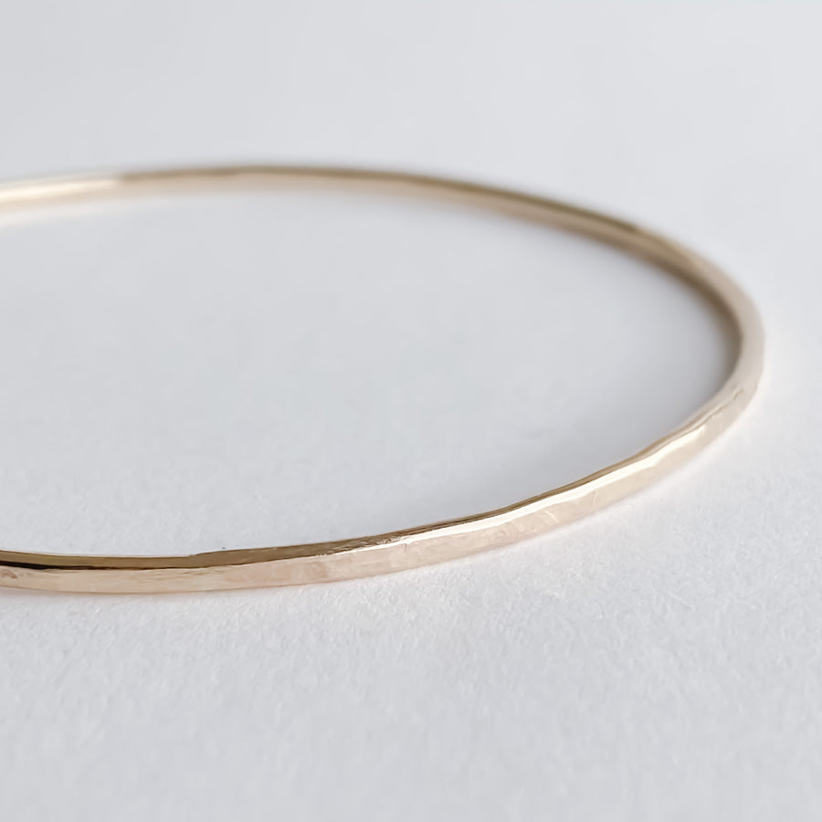 Gold Bangle Bracelet - Salt + Sage