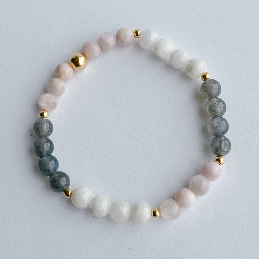 The Sovereign Self Bracelet - Salt + Sage