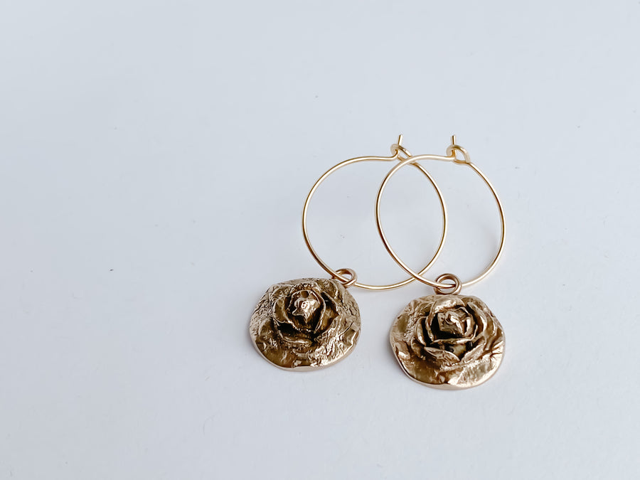 Rose Hoops - Salt + Sage