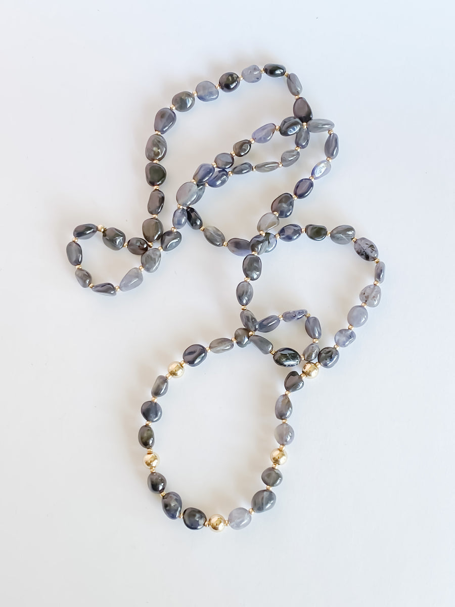 Iolite Necklace - Salt + Sage
