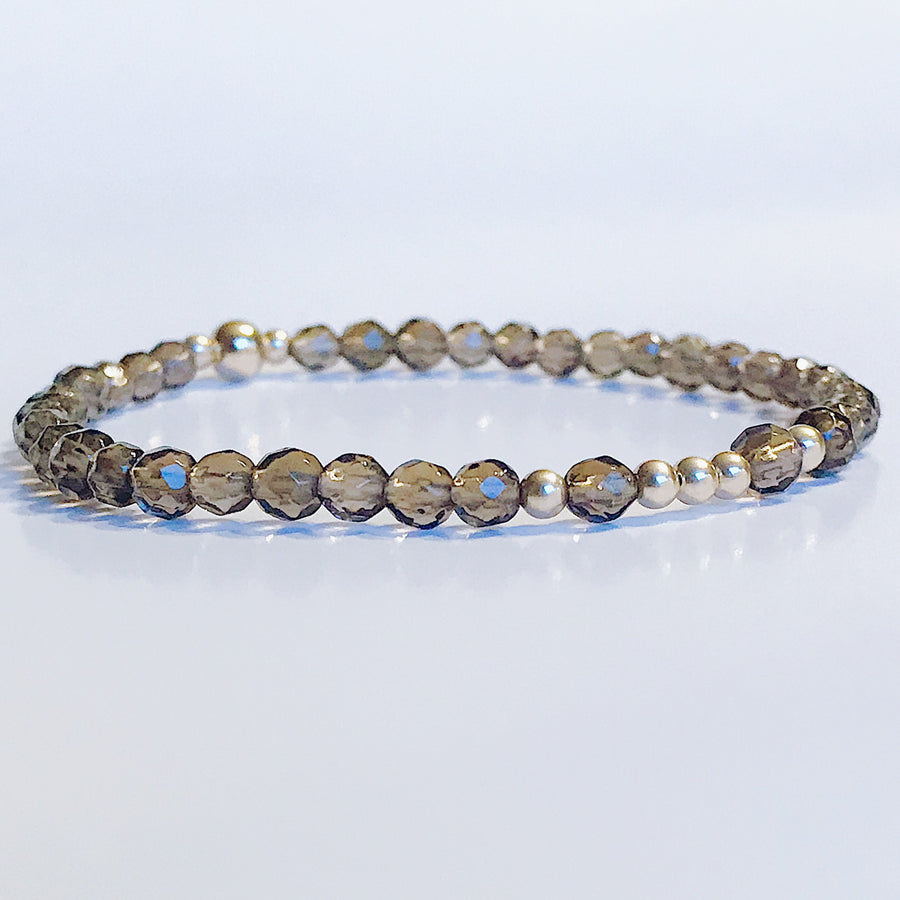 Smoky Quartz Illumination Bracelet - Salt + Sage