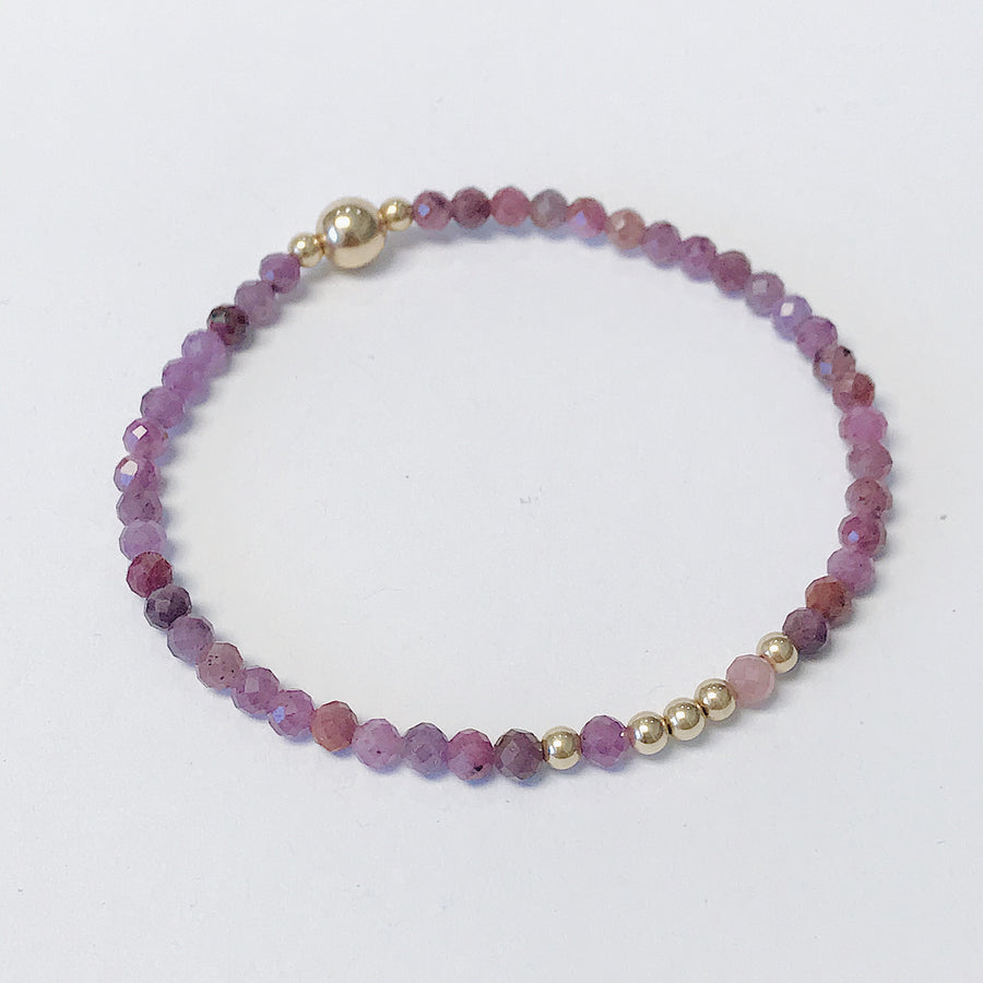 Ruby Illumination Bracelet - Salt + Sage