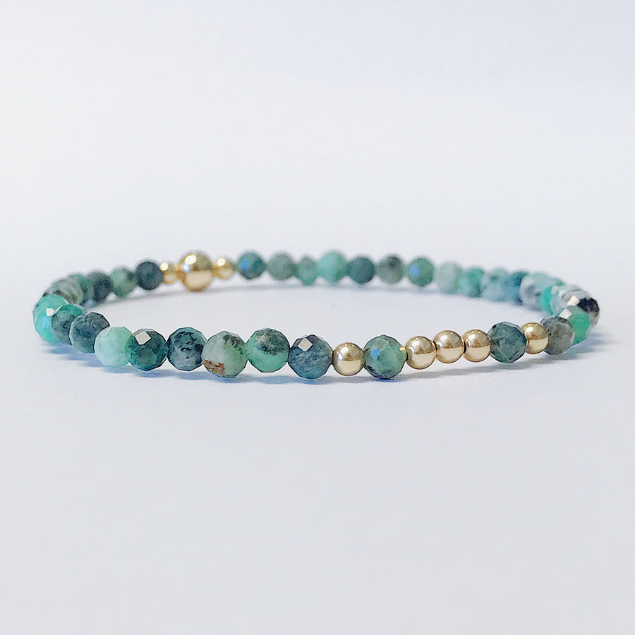 Emerald Illumination Bracelet - Salt + Sage