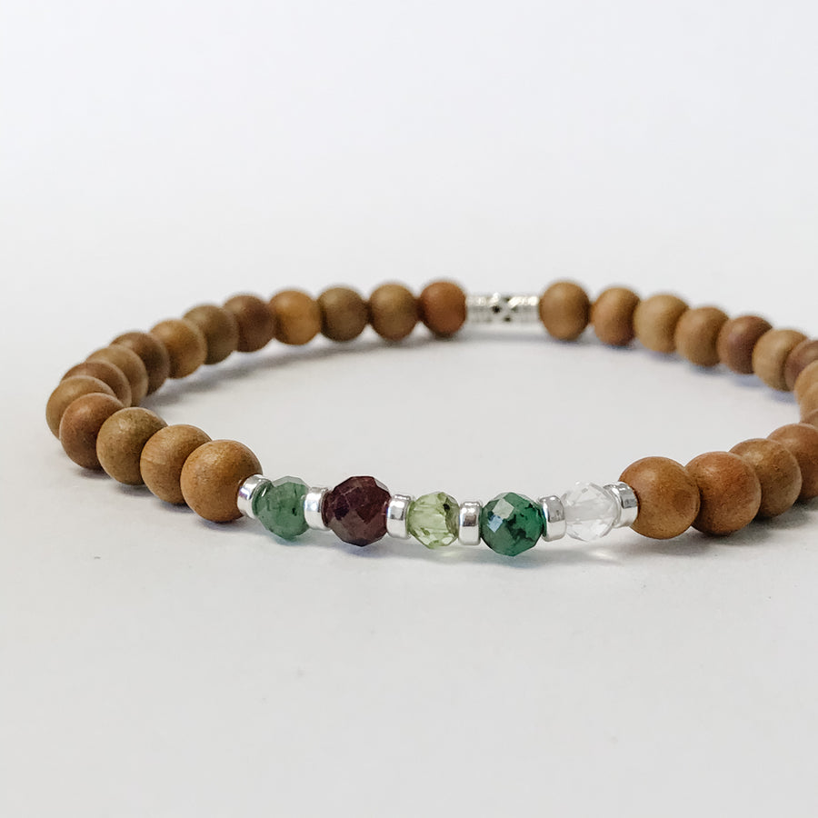The Mens Family Birthstone Bracelet - Salt + Sage