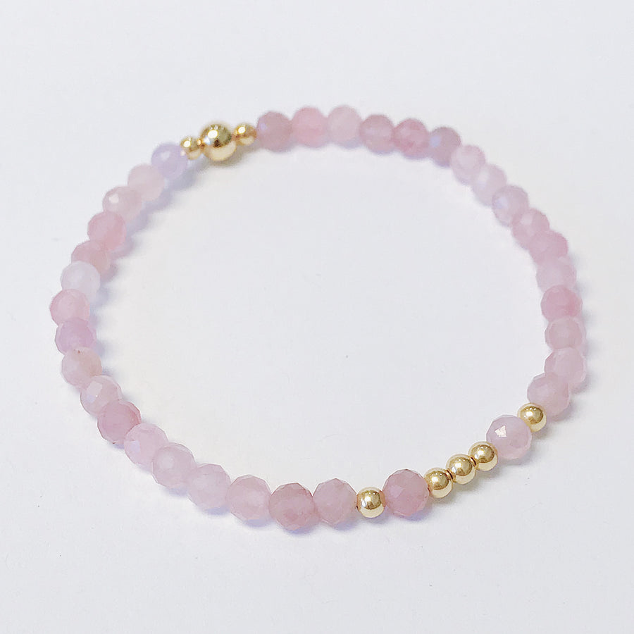 Rose Quartz Illumination Bracelet - Salt + Sage