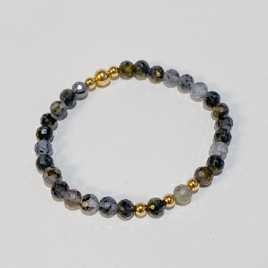 Iolite Illumination Bracelet - Salt + Sage