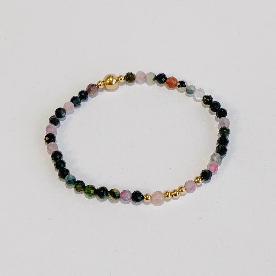 Tourmaline Illumination Bracelet - Salt + Sage