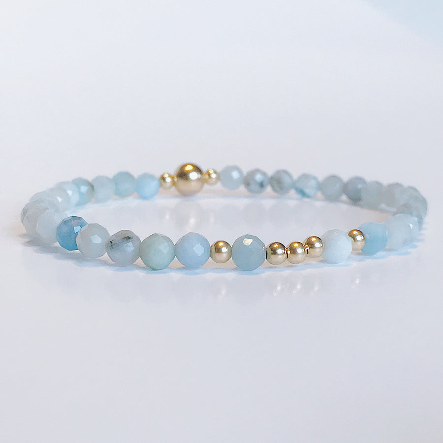 Aquamarine Illumination Bracelet - Salt + Sage