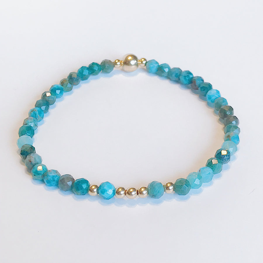 Blue Apatite Illumination Bracelet