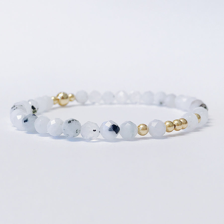Moonstone Illumination Bracelet - Salt + Sage