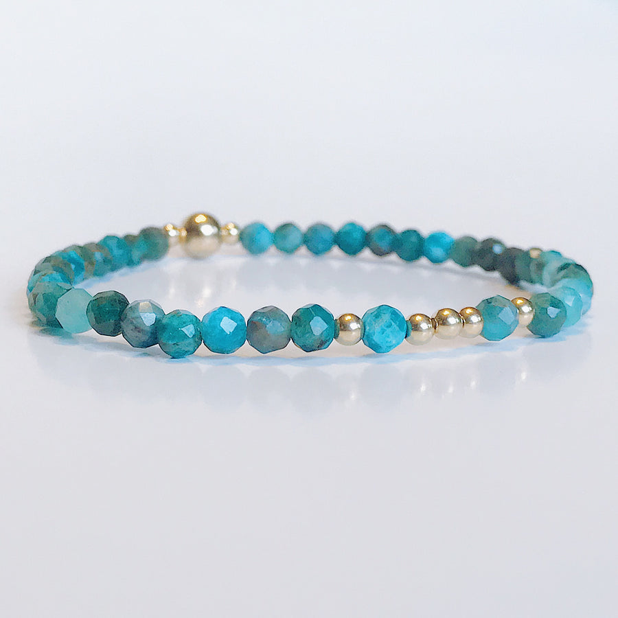 Blue Apatite Illumination Bracelet - Salt + Sage