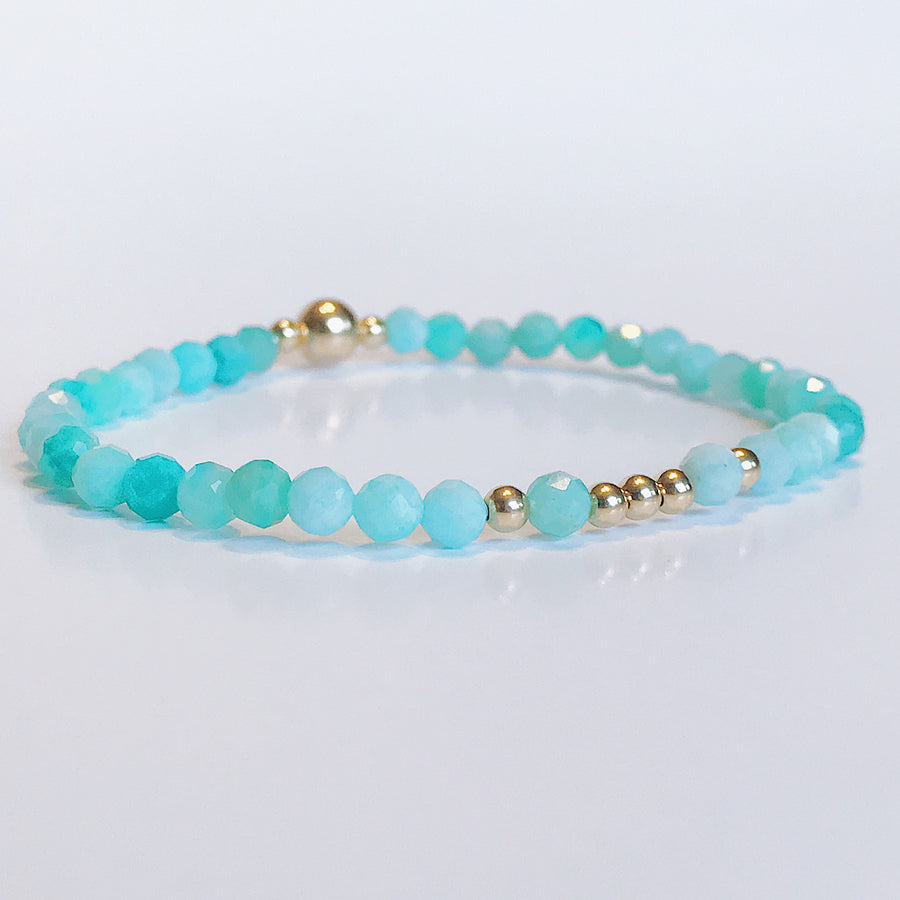 Amazonite Illumination Bracelet - Salt + Sage