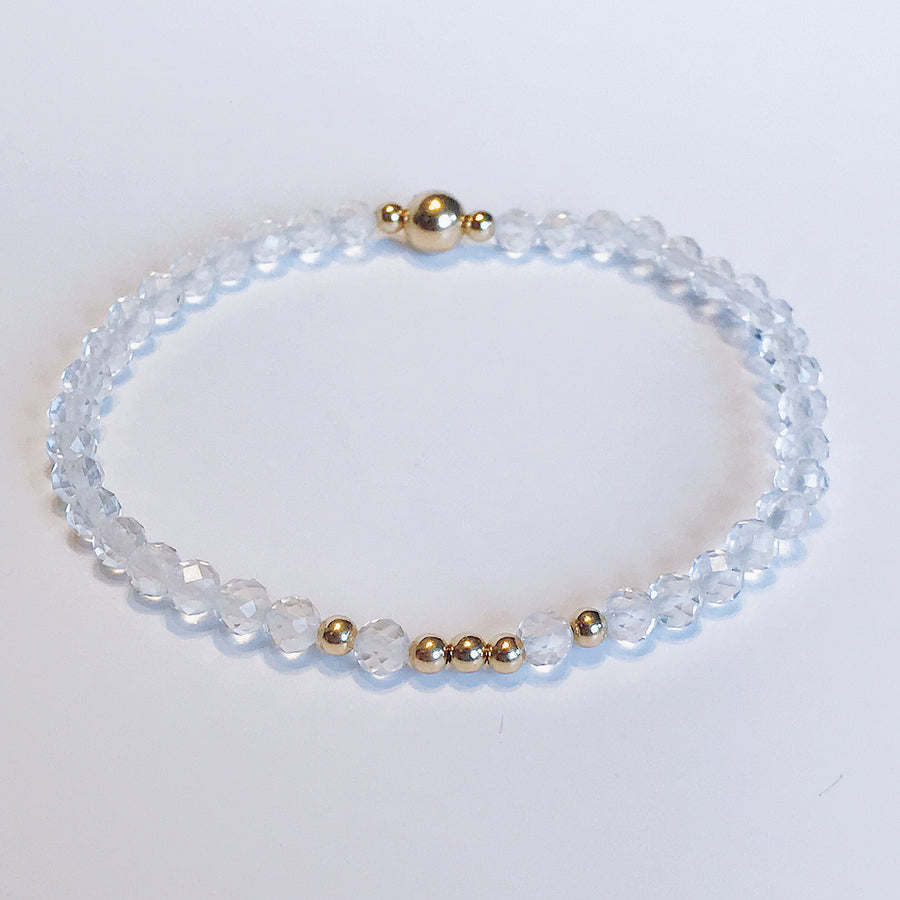 Topaz Illumination Bracelet - Salt + Sage