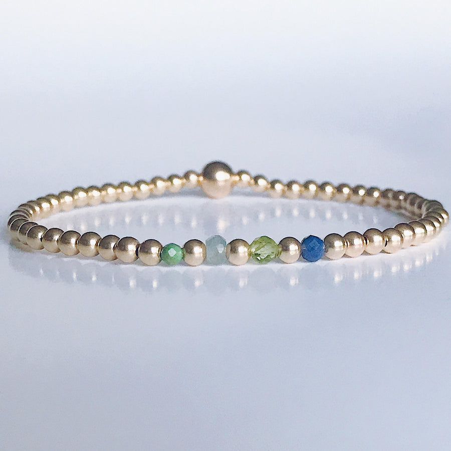 The Family Birthstone Bracelet - PREORDER - Salt + Sage