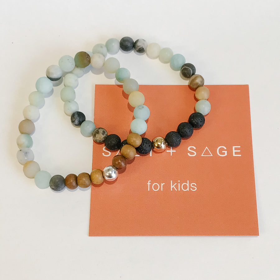 Amazonite Kids Bracelet - Salt + Sage
