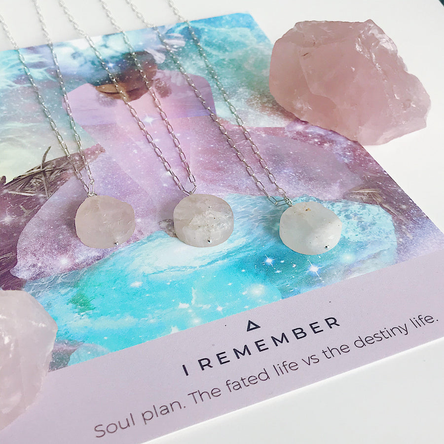 Rose Quartz Talisman Necklace - Salt + Sage