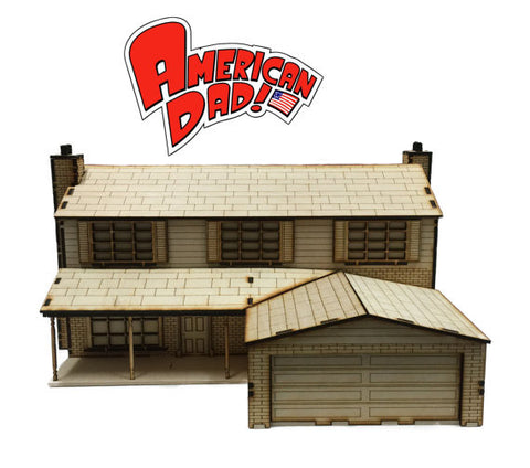 American Dad House Model Kit - BirdsWoodShack
