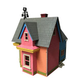 New Version UP House Model Painted/Assembled - BirdsWoodShack