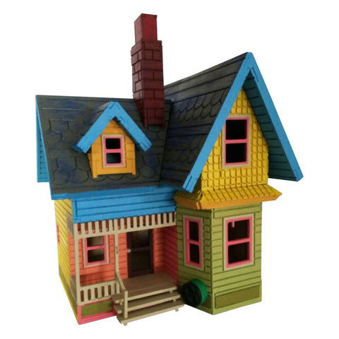 UP House Model Painted/Assembled - BirdsWoodShack
