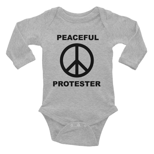Peaceful Protester Long Sleeve Onesie