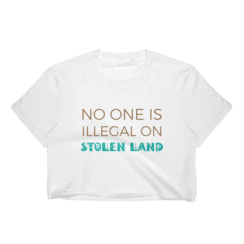 Stolen Land Women's Crop Top