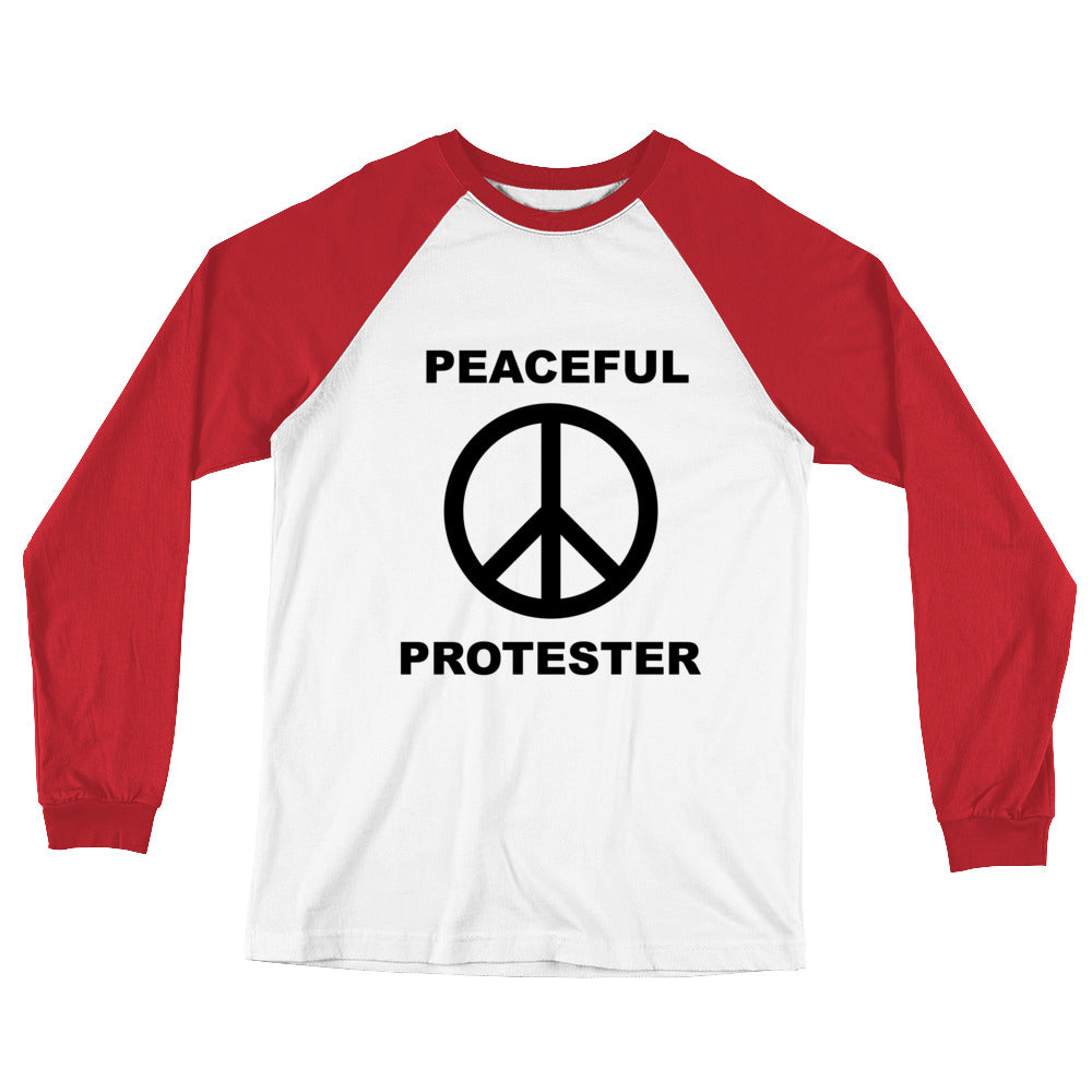 Peaceful Protester Long Sleeve Baseball Tee