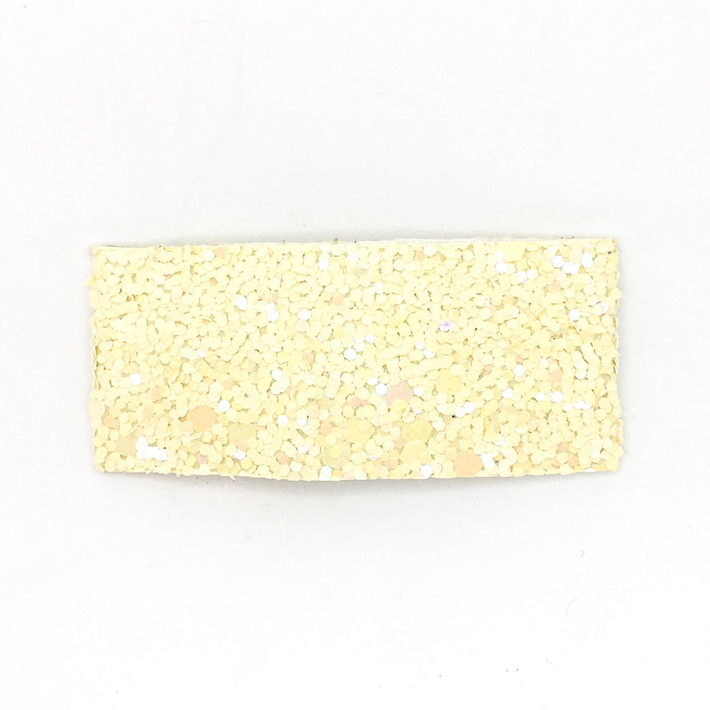 Cream Chunky Glitter Single Snap Clip