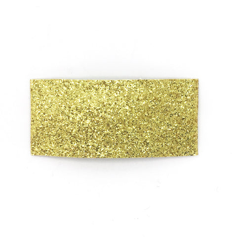 Gold Fine Glitter Single Snap Clip