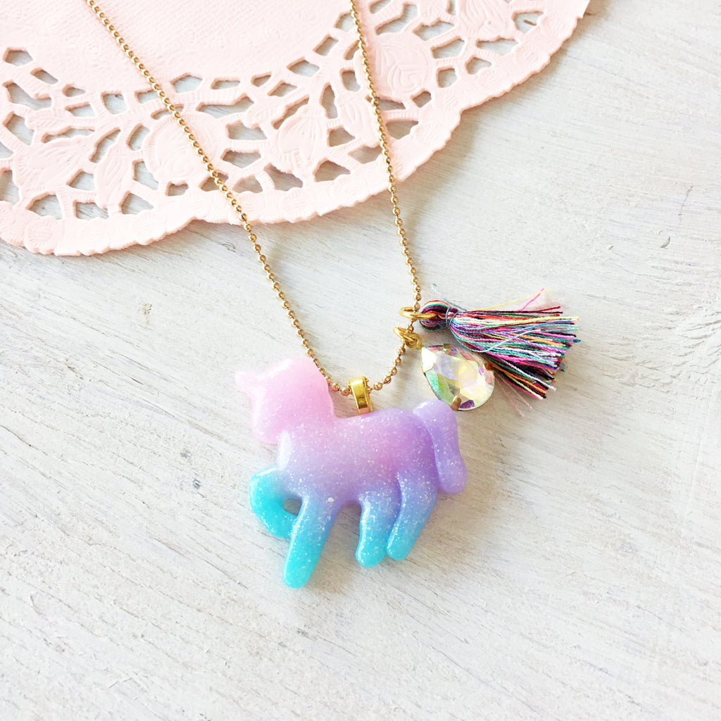 Ombré Unicorn Necklace