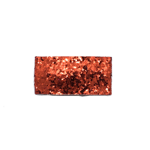 Cherry Apple Red Glitter Single Snap Clip