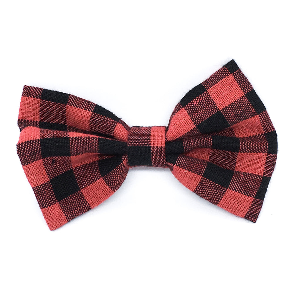 Red Buffalo Plaid Medium Bow
