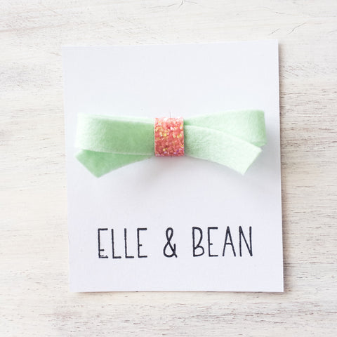 Mint & Coral Lilly Bow