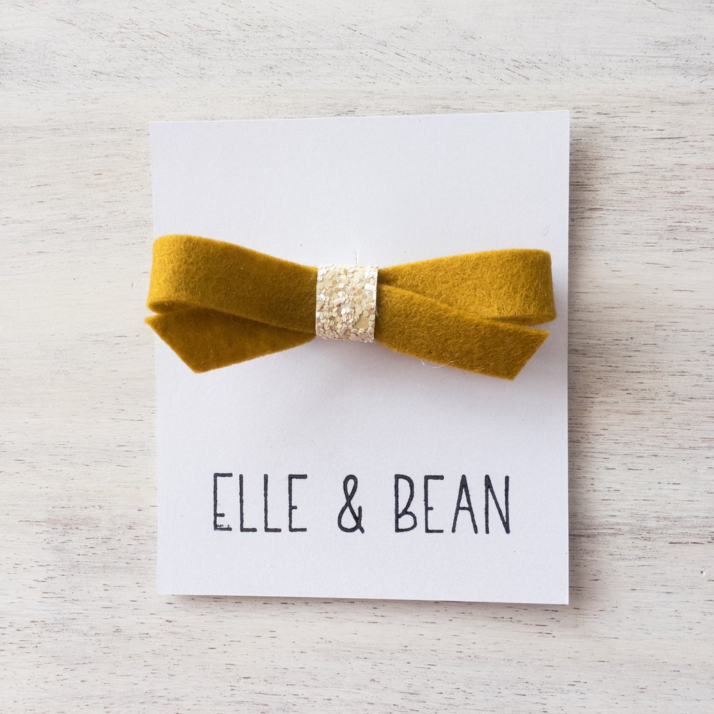 Mustard & Ivory Lilly Bow