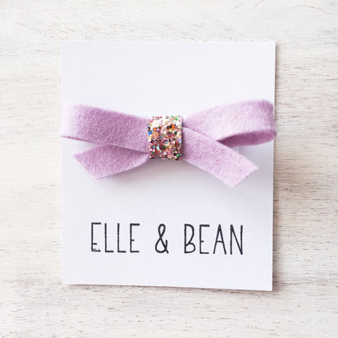 Lilac & Cupcake Sprinkles Lilly Bow