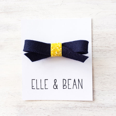 Navy & Sunshine Lilly Bow