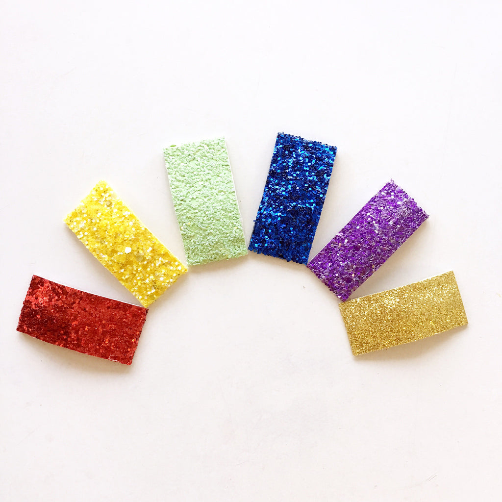 Rainbow Glitter Clip Collection
