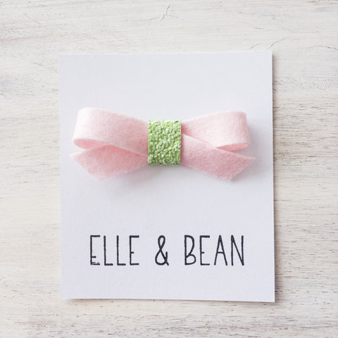 Light Pink & Wasabi Lilly Bow