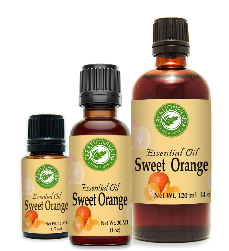Sweet Orange Essential Oil 2 oz - 100% Pure bu Creation Pharm -Aceite esencial de naranja dulce - Creation Pharm