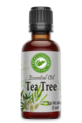 Tea Tree Essential Oil 2 oz -Aceite esencial de árbol de té For Aromatherapy Diffuser DIY Skin Care - Creation Pharm