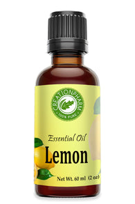 Lemon Essential Oil |Aceite de Citrus Limon |  Health Wellness Diffuser Economy Use 2 oz Size - Creation Pharm