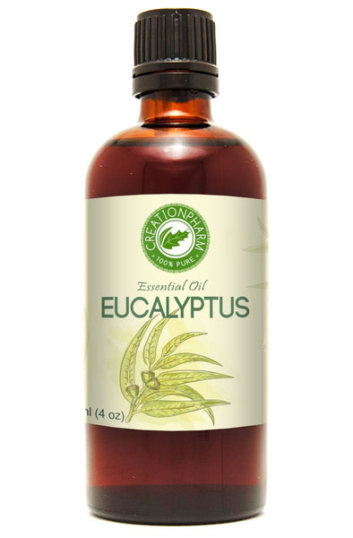 Eucalyptus Essential Oil | Aceite de Esencial Eucalipto 118 ml | Premium Therapeutic Quality Eucalyptus Globulus | 100% Pure Aromatherapy Health Wellness | Diffuser | Creation Pharm