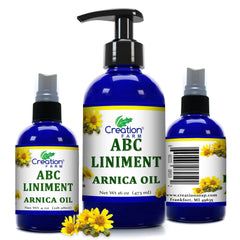 Arnica Liniment - 16 oz - Arnica Infusion and Essential Oil Blend - Relieving Body Massage Oil - Creation Pharm