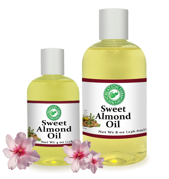 Almond Oil, Sweet  - Almond Carrier Oil 100% Pure from Creation Pharm