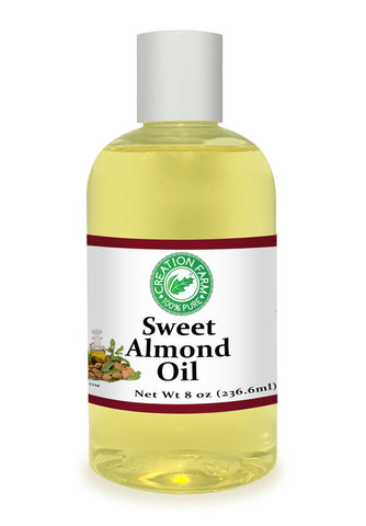 Sweet Almond Oil Carrier - 8 oz - Aceite de Almendra Portador - 100% Puro - Creation Pharm