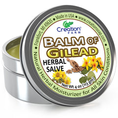Balm of Gilead Salve - Large 4 Oz Tin Botanical Ointment, Todos Balsamo de Galaad pomada botnico - Creation Pharm