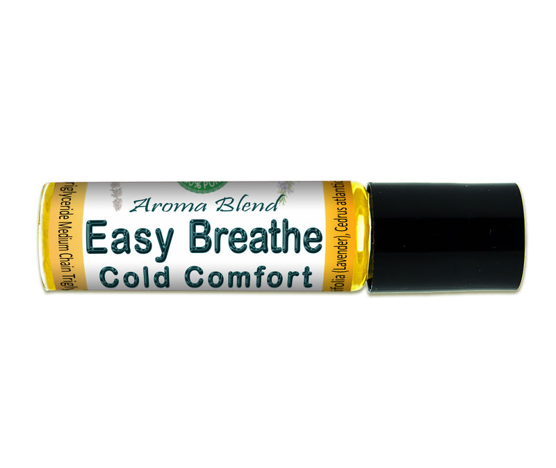 Easy Breathe Aroma Blend Supports Respiratory System * Sinus Relief * Roll-On 10 ml (0.3 oz) - Creation Pharm